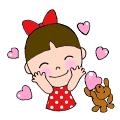 リボンちゃんと愛犬