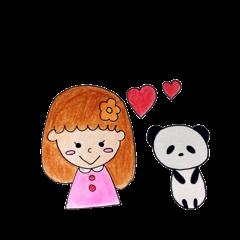 女の子と、ときどきパンダ。