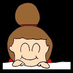 [LINEスタンプ] お団子ママの日常生活 (1)