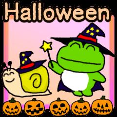 [LINEスタンプ] ハロウィンで使える!カエル(蛙)のスタンプ