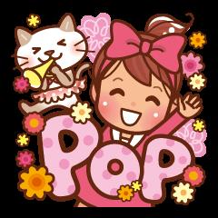 英語でPOP!お花いっぱい日常スタンプ