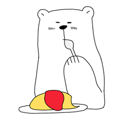 うちのシロクマさん(2)