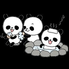 三頭のパンダ