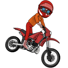 オフロードバイクが大好き!