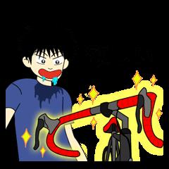 古賀君という少年は自転車に夢中です。