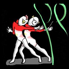 体で表現スタンプ 5 (新体操)