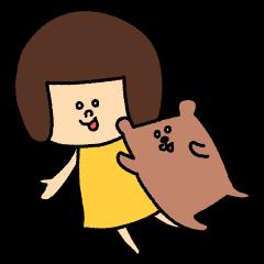 マルちゃんとタンタン Girl's talk