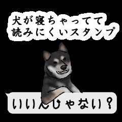 [LINEスタンプ] 犬が寝ちゃってて読みにくいスタンプの画像(メイン)