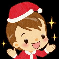 サンタクロースとクリスマスの子供たち