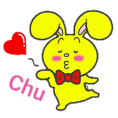 [LINEスタンプ] 幸せを呼ぶ黄色いうさぎ ジャンピィ~ (1)