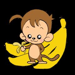 おさるのウッキー・モンキー・B77(バナナ)