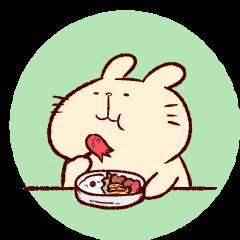 [LINEスタンプ] うさぎのほのぼの日和の画像(メイン)