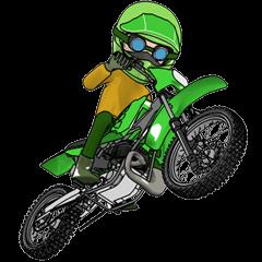 ライムグリーンのオフロードバイク!