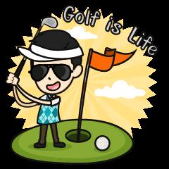 ゴルフは人生であります