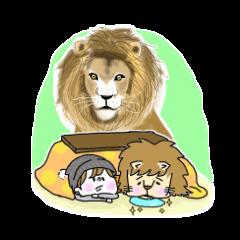ライオン兄弟。