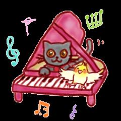 ピアノレッスンスタンプ♪