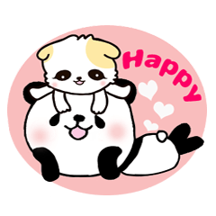 パンダと子猫の優しい言葉