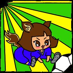 サッカーガール