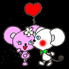 ネズミのカップル