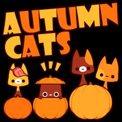 [LINEスタンプ] Autumn cats ~秋のパーティ!~ (1)