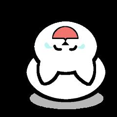 ねこ雪だるま(感動詞編)