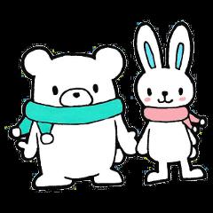 カップルで使える★仲良しクマ&ウサギ