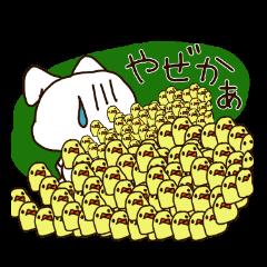 [長崎]白うさぎと白い鳥と熊と小さい鳥さん