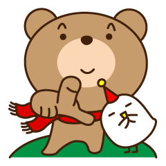 くまたんピヨコの冬 大阪出没!熊と鳥