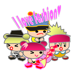 Daily life's sticker of a fashionable