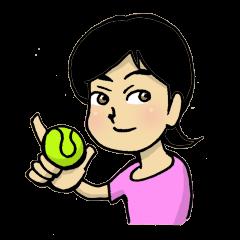 テニス女子毎日奮闘