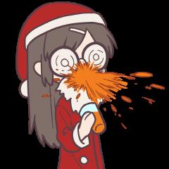 無表情で反応する系女子のクリスマス
