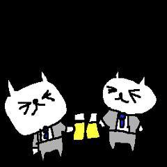 お酒大好ネコ