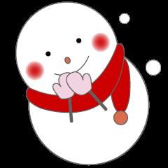 かわいい雪だるまちゃん