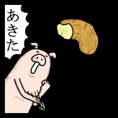 秋田弁でブタっこ