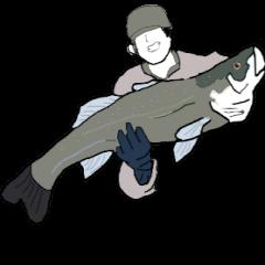 シーバス釣りアングラースタンプ