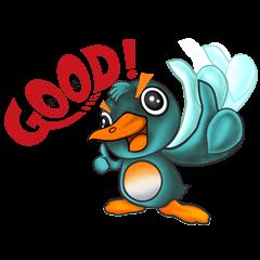 """""""Lenny penguin"""" greeting"""