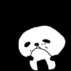デカ文字シンプルパンダ Simple panda