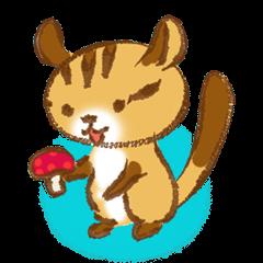 かわいい栗鼠+シマリス~ジョジョ