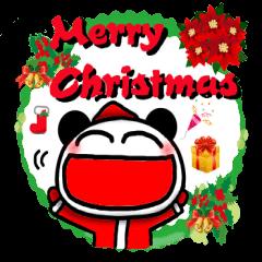 クリスマスパンダスタンプ
