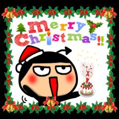 クリスマス悪魔スタンプ