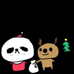デカ文字冬パンダ