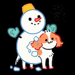 [LINEスタンプ] 冬犬物語