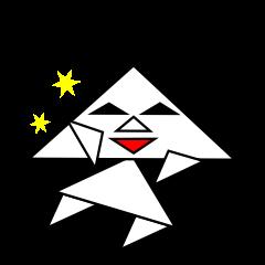 [LINEスタンプ] 二等辺三角形さん