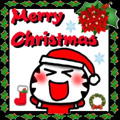 クリスマス猫スタンプ