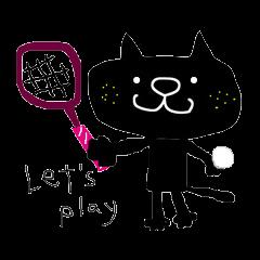 黒猫のクロスケ(テニス用)