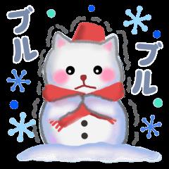 雪だるまネコさん