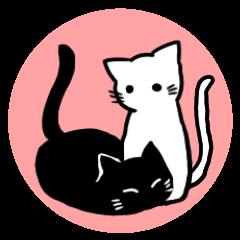 白黒猫の感情表現