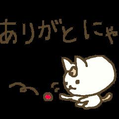 にゃんこ語のねこすけの冬 winter cat