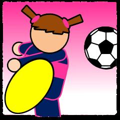 女子サッカースタンプ(試合速報)