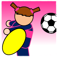 [LINEスタンプ] 女子サッカースタンプ(試合速報)の画像(メイン)